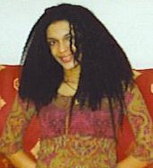 Summer 1998 - My natural hair length after braid-out