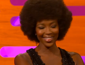 Naomi Campbell's Cute Afro